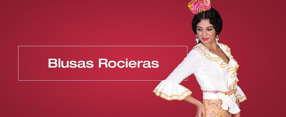 La blusa rociera está pensada para que puedas combinarla con dos faldas  distintas o al revés 212291c4996