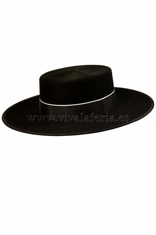 Sombrero de ala ancha cañero de lana color negro a0492733908