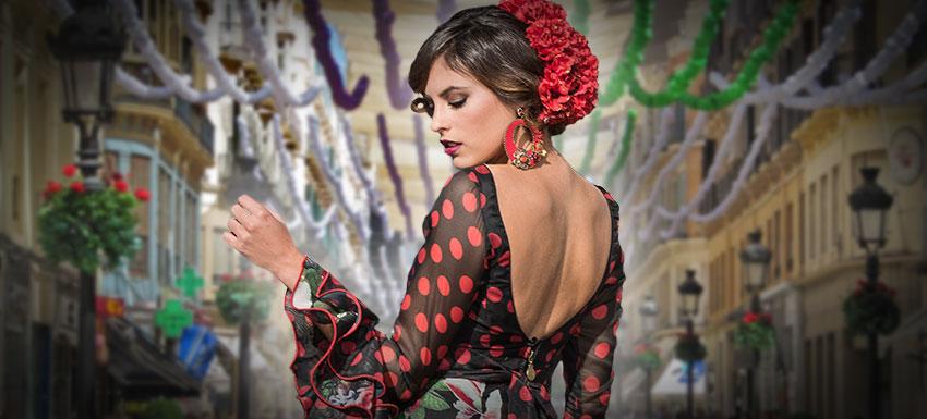 Trajes de flamenca y complementos para la Feria de Málaga