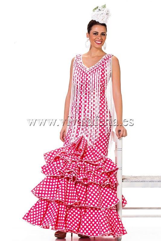 Traje de flamenca barato color rojo Modelo Zagal