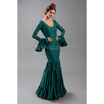 Traje de flamenca modelo Tomares verde de Son MM
