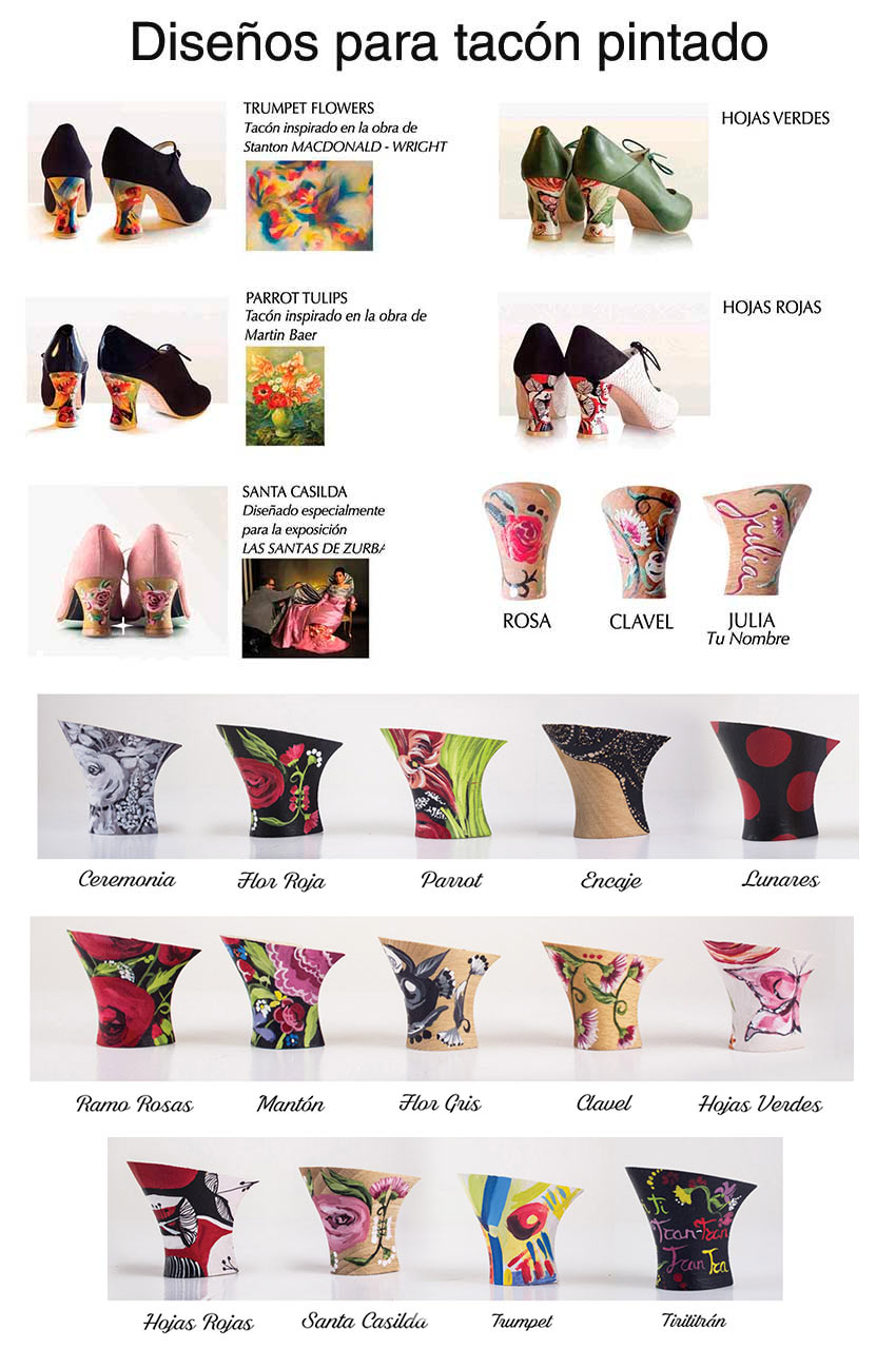 Diseños de tacones pintados Begoña Cervera